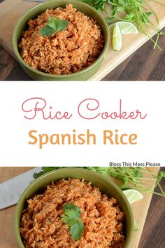 Super easy Spanish rice recipe made in the rice cooker! Spanish Rice made in the rice cooker with a few simple ingredients - just dump, mix, set it & forget it! An easy recipe cooker recipe your family will love! Aroma Rice Cooker, Best Rice Cooker, Rice Cooker Recipes, Slow Cooker, Cooking Recipes, Healthy Recipes, Spanish Rice Recipe Rice Cooker, Crockpot Spanish Rice, Side Recipes