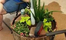 Learn how to build your own strong and stable patio umbrella stand/planter from this step-by-step tutorial! Outdoor Umbrella Stand, Organic Horticulture, Organic Gardening, Large Patio Umbrellas, Building A Patio, Small Backyard Landscaping, Backyard Ideas, Pergola Designs, Backyard Designs