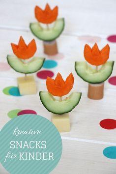 Snacks für Kinder: Ideen für Kindergeburtstag Snacks, Lunchbox Ideen, Picknick Ideen oder kreative Abendbrot Ideen. Gesunde Pausensnacks, die Lust auf Essen machen. | Anzeige