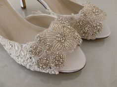 This lovely lacy wedding shoe is elegant and sophisticated. We have given  it a gorgeous 2d5501d7f17a