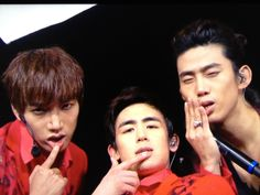 Hyung' s version of aegyo.....not quite sure..if its really an aegyo...or something else....kekekekekeke....