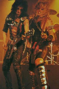 Randy Piper & Chris Holmes 80s Hair Bands, Heavy Rock, Glam Metal, Power Metal, Live Rock, Heavy Metal Bands, Wasp, Music Stuff, Music Bands