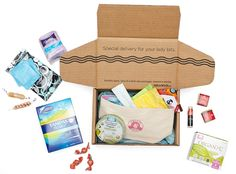 HelloFlo description: All your tampons and feminine supplies delivered right to your door in a discreet box.