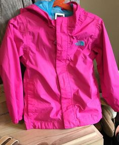 The North Face Hyvent Girls Toddler Size 4T Zip Hood Light Jacket Bright Pink  | eBay