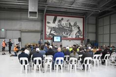 Held in the workshop hangar of Temora Aviation Museum. This ensures all pilots flying that day in the air show have all the current weather and airport information. #safetyfirst