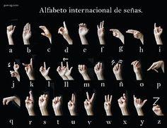 Alfabeto de señas Libra, Spanish Language Learning, K 1, Tag Photo, Sign Language, Signs, Movie Posters, Languages, Yuri