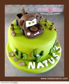 Złomek, Auta, Auta 2, tort ze Złomkiem, Złomek na torcie, Mcqueen, torty bajkowe, torty dla dzieci, torty urodzinowe
