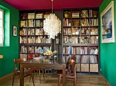 The World's Most Popular Bookcase: Best Uses of the IKEA Expedit__________________the library wall...