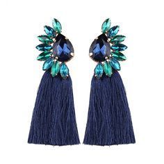 4d800c147 HANDCRAFTED: These crystal on the earrings are manual inlays by workers,  Each earring takes