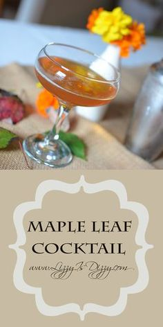 A Maple Leaf Cocktail will keep you warm, from the inside out!