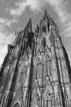 Cologne Cathedral.  This building looks like a mountain; so big and so beautiful.