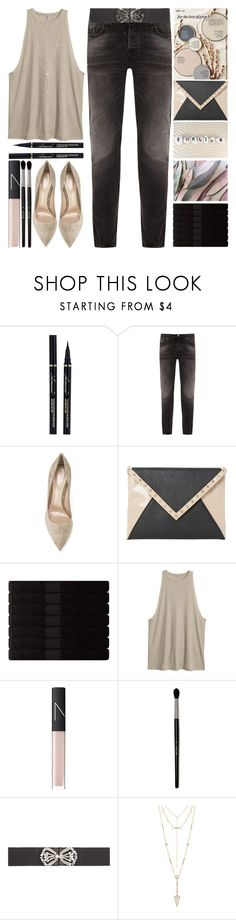 """""""for the love of gray"""" by grozdana-v ❤ liked on Polyvore featuring Nudie Jeans Co., Gianvito Rossi, Better Homes and Gardens, Dune, Yves Delorme, NARS Cosmetics, Temperley London and House of Harlow 1960"""