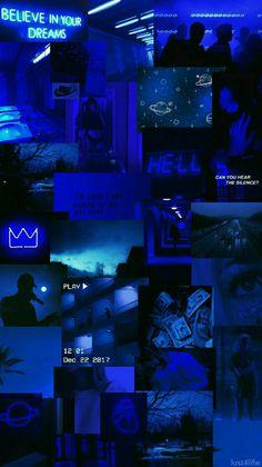 blue aesthetic Forgive me, God. I nevr b in me . Blue Aesthetic Tumblr, Blue Aesthetic Dark, Black Aesthetic Wallpaper, Iphone Wallpaper Tumblr Aesthetic, Aesthetic Colors, Aesthetic Collage, Aesthetic Backgrounds, Aesthetic Wallpapers, Aesthetic Painting