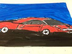 Essa é uma pintura de uma Ferrari que era um desenho do meu caderno de artes que eu escolhi pintar. Feita pelo: Lucas 5 ano A Lucas 5 ano A