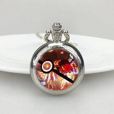 Animation Pokemon Go Charms Groudon Quartz Pocket Watches Unique Necklace  Pendant Bijoux, Collier Pokémon, 85483506df3f