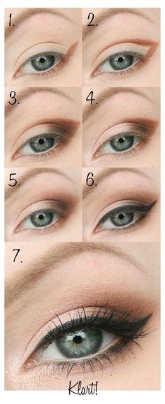 Smokey Eyes Tutorial, Hooded Eye Makeup Tutorial, Eyeshadow Tutorial For Beginners, Eyeshadow Tutorials, Makeup Tutorials, Makeup Hacks, Makeup Kit, Makeup Ideas, Simple Eyeshadow