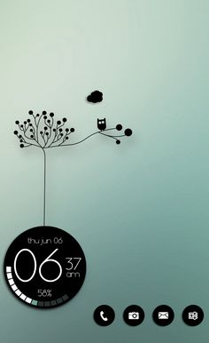 Homescreen. Nova Launcher. Zooper Widget. Black & White. Touch of Green. Andriod. Costum. Mason333. (Mobility Exercises Simple)