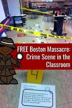 Engage you students with this super fun Free Boston Massacre Crime Scene in the Classroom Activity for Kids! 6th Grade Social Studies, Social Studies Classroom, Social Studies Activities, Teaching Social Studies, Steam Activities, Writing Activities, History Teachers, Teaching History, History Education
