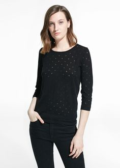 Polka-Dot Sweater // MANGO $44.99US