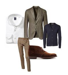Sportcoat: Boglioli, Shirt: Finamore, Cardigan: Brunello Cucinelli, Trousers: Incotex, Shoes: Crockett & Jones Chiltern.