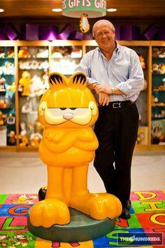 Jim Davis and Garfield