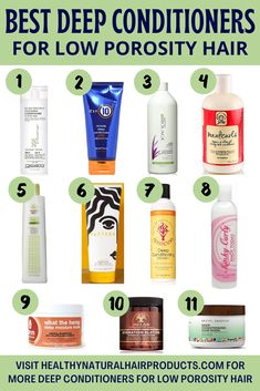 Best Deep Conditioners for Low Porosity Hair