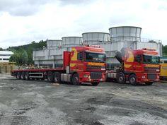 Transport- und Kranabteilung der Firma Rachbauer Straßwalchen-Salzburg