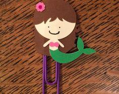 Mermaid Clip for Plum Paper Planner, Erin Condren Planner, Kikki K, Sugar Paper, Planners, or Filofax