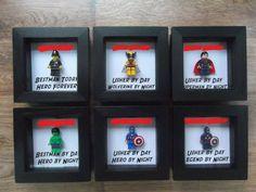 Lego Minifigure Wedding Bestman Groomsman Gift Frames Superhero. Wolverine, Superman, Hulk, Captain America, Policeman. - Visit to grab an amazing super hero shirt now on sale!