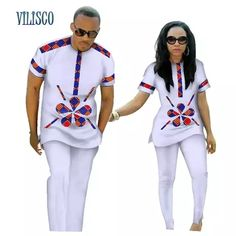 African Clothing Couples Top-Pants Sets For Lovers Bazin Sweet Flower African Clothing Couples Top-Pants Sets for Lovers Bazin Riche Sweet Flower Pattern African Shirts For Men, African Attire For Men, African Clothing For Men, African Wedding Attire, African Clothes, Nigerian Men Fashion, African Men Fashion, Africa Fashion, Latest African Fashion Dresses