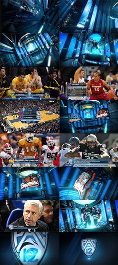 PAC 12 NETWORK by marcos vaz, via Behance