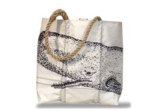 Made from old sails, so cool - Sea Bags Medium Whale Tote, with Mary Brewster Notes Lining