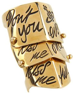 Kiss Me Twice Armour Ring