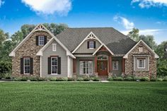 Features abound in this elegant 3 bedroom design. From high celings, open spaces, and great layout, this plan is sure to meet your family's needs. The three large bedrooms are complete with walk-in cl