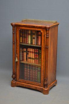 Victorian Walnut Bookcase / Music Cabinet