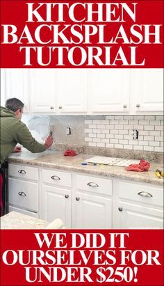 Home Remodeling Diy kitchen backsplash STEP BY STEP tutorial - Whether you've done it before or you're a beginner, this guide is a necessity. Includes every step in the process of installing your own kitchen backsplash. Kitchen Redo, Kitchen Dining, Kitchen Ideas, Kitchen Backslash Ideas, Dining Rooms, Kitchen Backsplash Inspiration, Cheap Kitchen Makeover, Gold Kitchen, Nice Kitchen