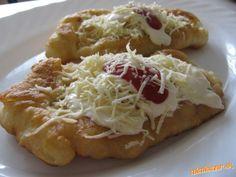 Bombastické langoše bez vajíčka Baked Potato, Cabbage, Toast, Pizza, Potatoes, Cheese, Baking, Vegetables, Ethnic Recipes