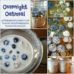 Overnight Oatmeal {In a Jar} No chia seeds