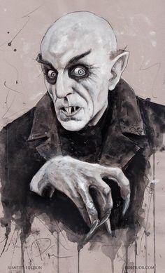 Nosferatu - Max Schreck - art by Rob Prior robprior.com