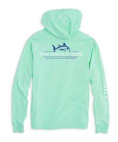 Southern Tide - Rising Skipjack Long Sleeve Hoodie Tee