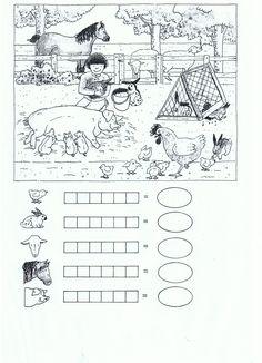 1st Grade Worksheets, School Worksheets, Kindergarten Worksheets, Kids Class, Math For Kids, Animal Activities, Infant Activities, School Fun, Pre School