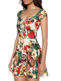 Grandma's Garden Cap Sleeve Skater Dress (WW 48HR $90AUD / US - LIMITED $72USD) by Black Milk Clothing