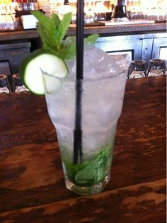 Cucumber vodka, mint, lime, soda, and prosecco courtesy of Southern.