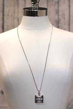 Long Square Pendant Necklace