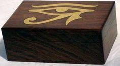 """Brass Inlaid Eye of Horus Box 4""""x6"""""""