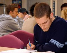 Student making notes