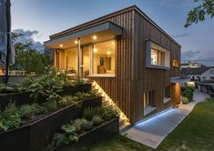 HAUS IN OBERPULLENDORF | AL Architekt Style At Home, Home And Living, Living Spaces, Garage Doors, Cabin, Mansions, House Styles, Outdoor Decor, Home Decor