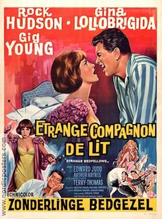 gina lollobrigida movie posters   Strange Bedfellows 1965 Rock Hudson Gina Lollobrigida