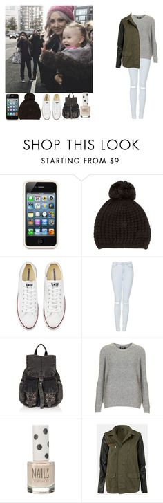 """Day in London W/Lou and Baby Lux"" by sarastyles-362 ❤ liked on Polyvore featuring Orla Kiely, Miss Pom Pom, Converse and Topshop"