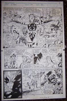 Uncanny X-Men 271 page 11 , in DanGallo's Jim Lee & Scott Williams Comic Art Gallery Room - 307678